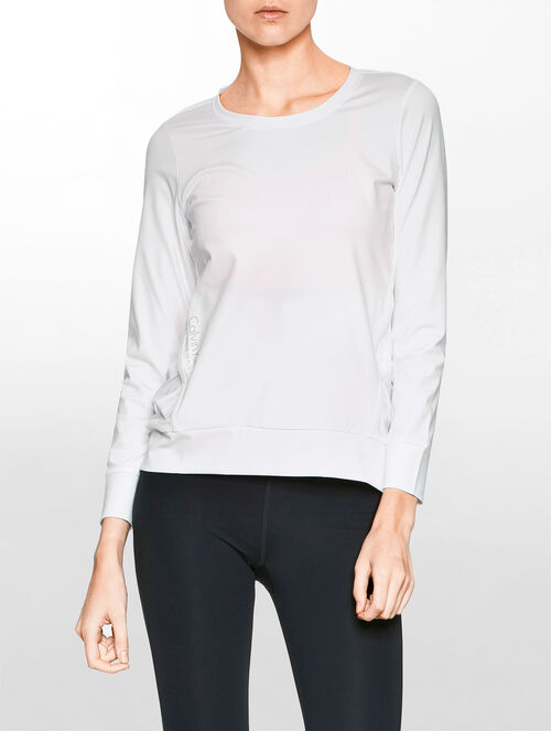 CALVIN KLEIN RUCHE SWEATSHIRT WITH POCKETS