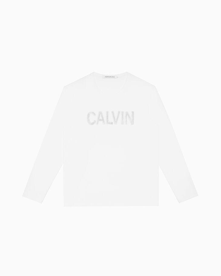 CALVIN KLEIN METALLIC CALVIN LOGO 티셔츠