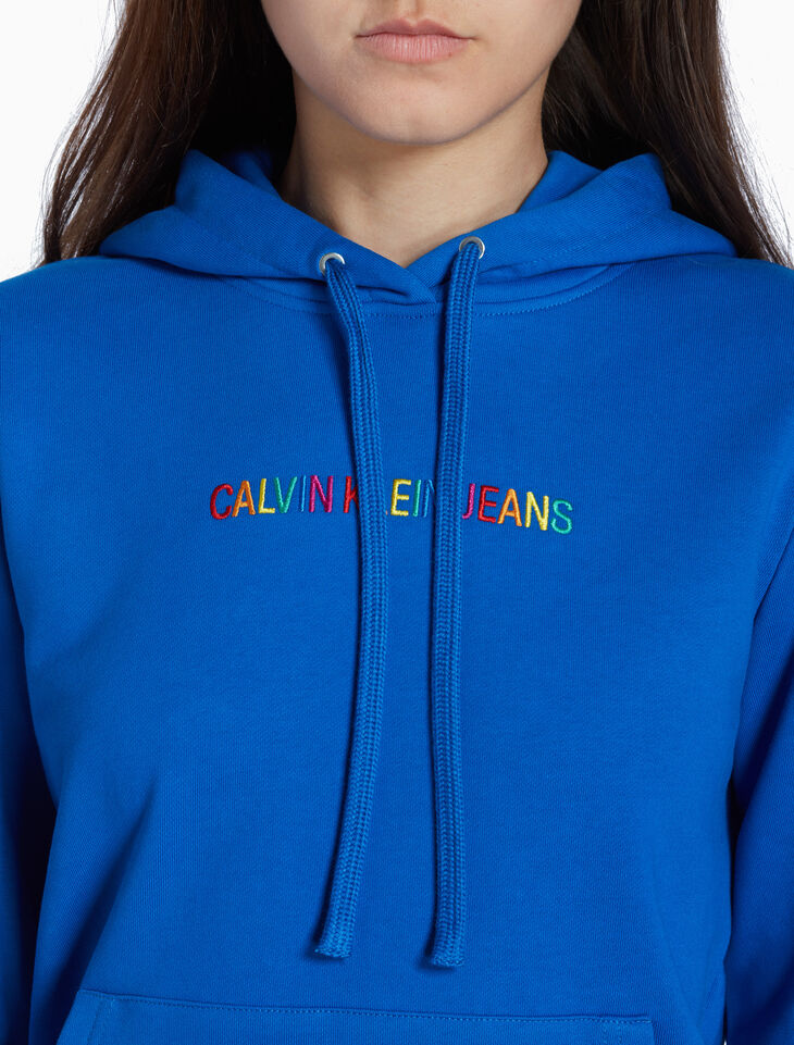CALVIN KLEIN RAINBOW LOGO HOODIE