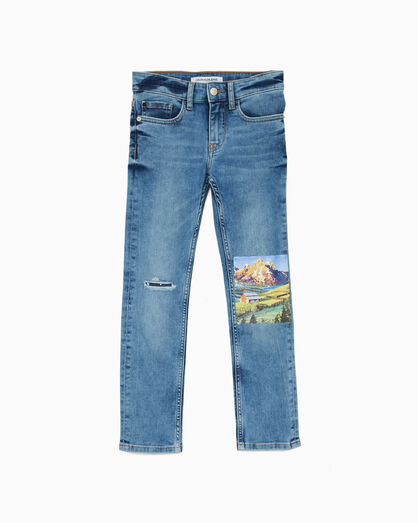 CALVIN KLEIN SLIM PHOTO PRINT JEANS
