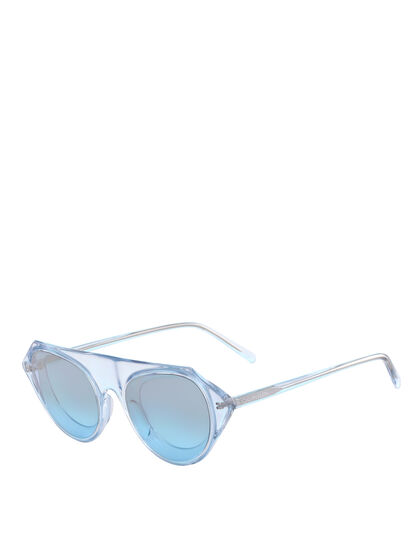 CALVIN KLEIN TAPERED INSET EYE CORNERED SUNGLASSES