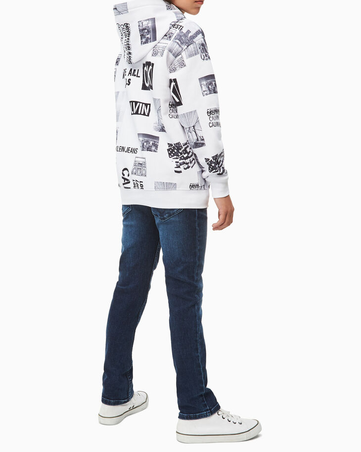 CALVIN KLEIN BOYS' ALL-OVER PRINT HOODIE