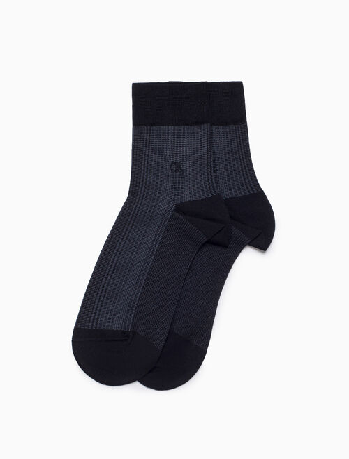 CALVIN KLEIN RIBBED LOGO DRESS SOCKS