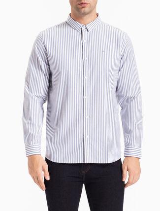 CALVIN KLEIN レギュラーフィットオックスフォードストライプシャツ