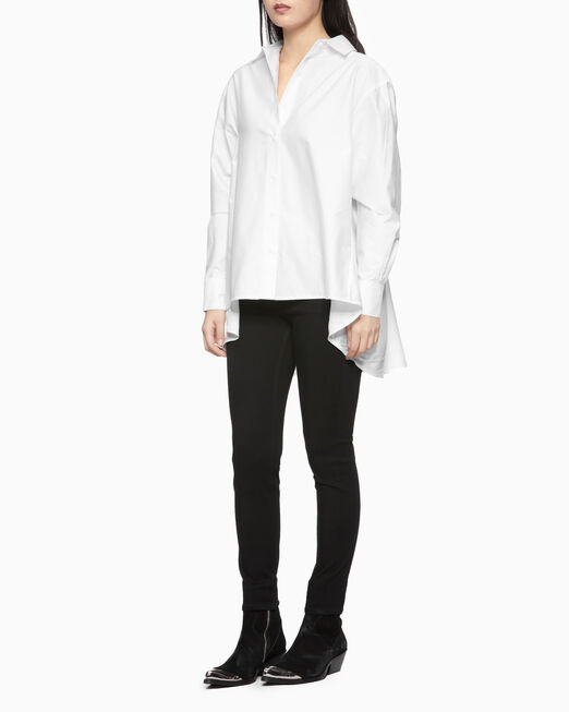 CALVIN KLEIN ASYMMETRIC COLOR BLOCK SHIRT
