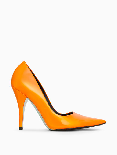 CALVIN KLEIN HIGH-HEELED PUMP IN PATENT LEATHER