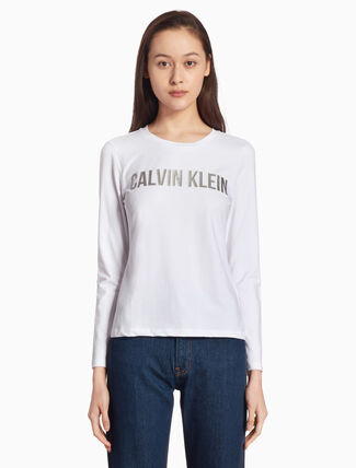 CALVIN KLEIN INSTITUTION METALLIC LOGO TEE