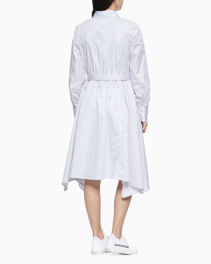 CALVIN KLEIN ASYMMETRIC SHIRT DRESS