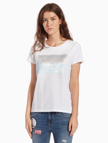 CALVIN KLEIN INSTITUTIONAL STAR PATCH TEE