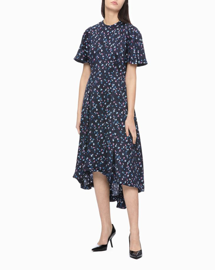 CALVIN KLEIN ALL OVER PRINT FLARED DRESS