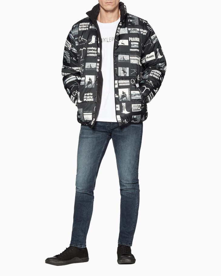 CALVIN KLEIN REVERSIBLE DOWN PUFFER JACKET