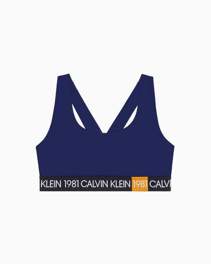 CALVIN KLEIN 1981 BOLD LIGHTLY LINED BRALETTE