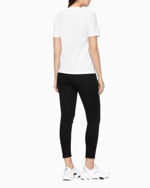 CALVIN KLEIN 여성 모노그램 로고 스트레이트핏 반팔 티셔츠