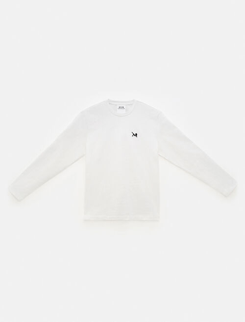 CALVIN KLEIN EST 1978 ICON EMBROIDERED CREWNECK LONG SLEEVE SHIRT