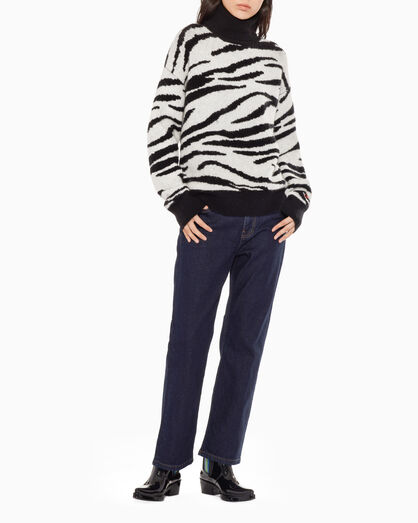 CALVIN KLEIN ANIMAL PATTERN ROLL NECK SWEATER