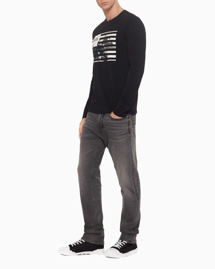 CALVIN KLEIN 할로우 아웃 로고 프린트 티셔츠