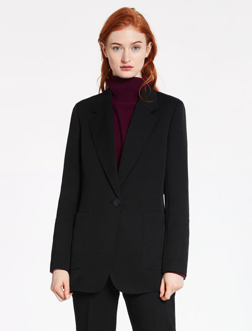 CALVIN KLEIN TRIACETATE POLY LONG JACKET - FULLY LINED