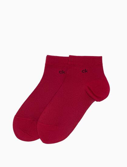 CALVIN KLEIN 2 件組超細纖維平織布短襪