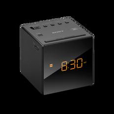 Single Alarm Clock Radio (Black)