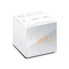 Single Alarm Clock Radio (White)